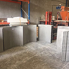 Products from perlite concrete and expanded polystyrene concrete